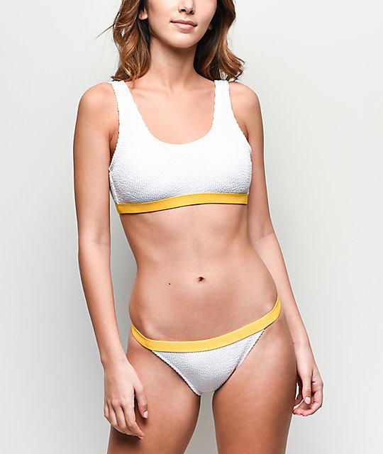 Trillium Bikini Con Braguitas Blancas De Textura 8PnwOk0