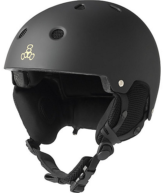 Triple Eight Brainsaver Audio Black Snowboard Helmet