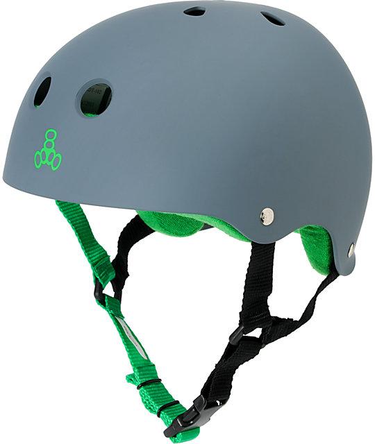 Triple Eight Brainsaver Matte Grey Rubber Skateboard Helmet