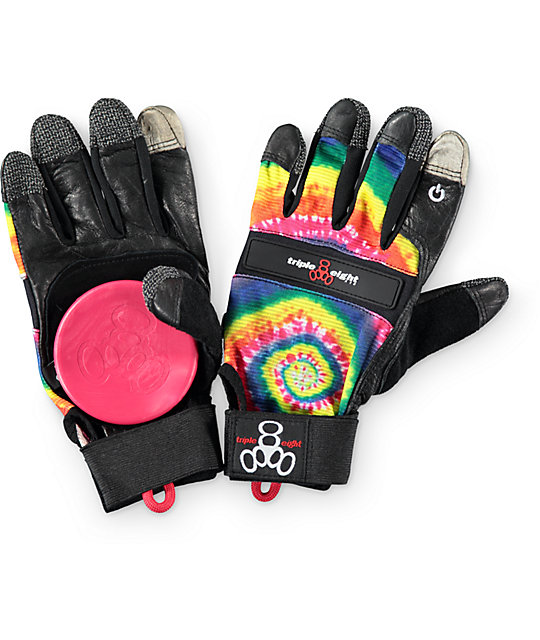 Triple Eight Downhill Tie Dye Touch Screen Slide Gloves