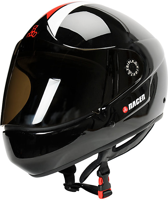 Triple Eight T8 Racer Downhill Skateboard Helmet