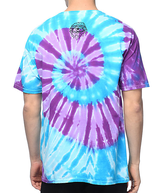 Trippy Burger Graffiti Tie Dye T-Shirt