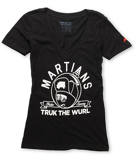 Trukfit Black Feeling Spacey V-Neck T-Shirt