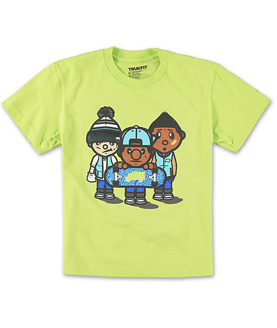 Trukfit Boys 3 Times Dope Lime T-Shirt