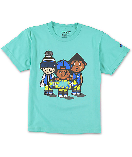 Trukfit Boys 3 Times Dope Turquoise T-Shirt