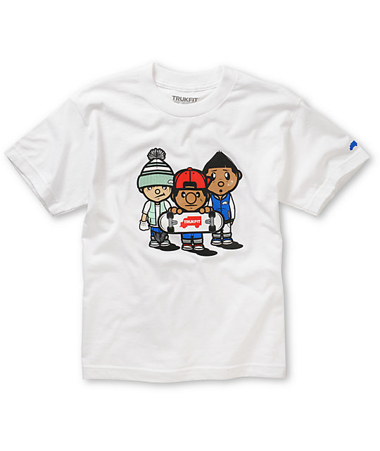 Trukfit Boys 3 Times Dope White T-Shirt