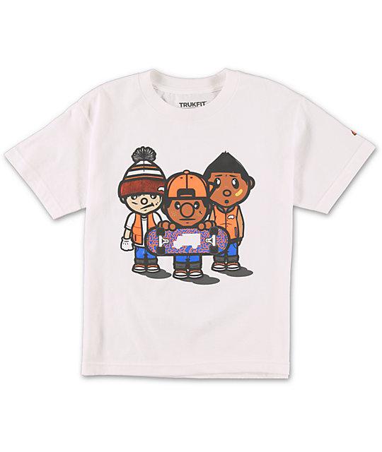Trukfit Boys 3 Times Dope White T-Shirt