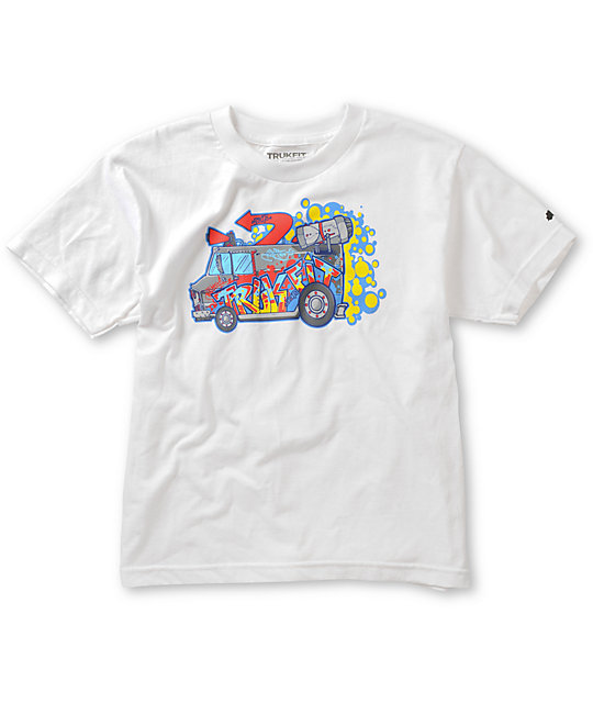 Trukfit Boys Boarderlands White T-Shirt