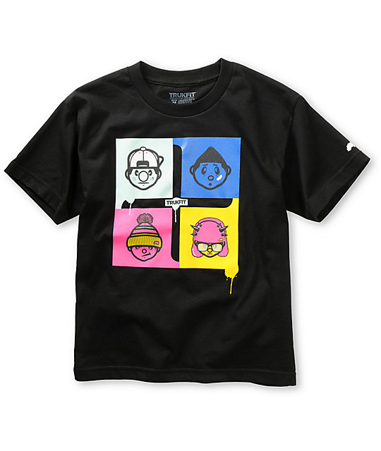 Trukfit Boys Connect Four Black T-Shirt