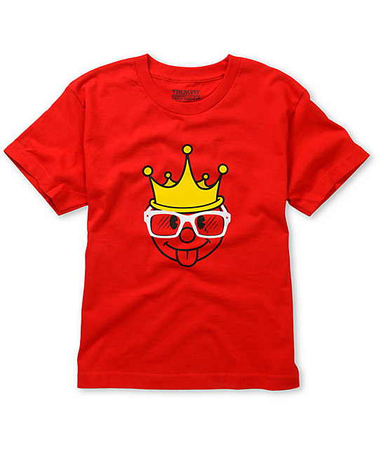Trukfit Boys King Red T-Shirt