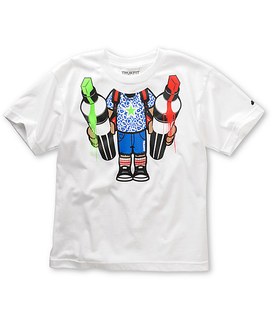 Trukfit Boys Krink Drips White T-Shirt