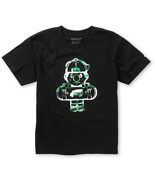 Trukfit Boys Lil Tommy 3 Black & Camo T-Shirt
