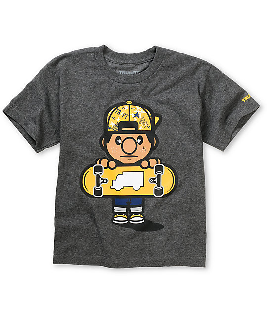 Trukfit Boys Lil Tommy Fill Charcoal T-Shirt