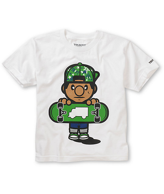 Trukfit Boys Lil Tommy Fill White T-Shirt