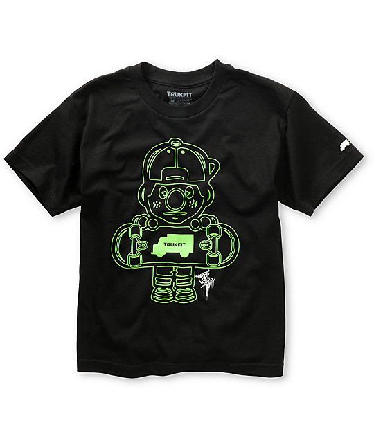 Trukfit Boys Lil Tommy Outlines Black T-Shirt
