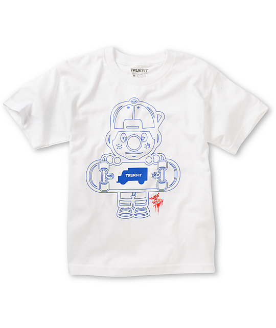Trukfit Boys Lil Tommy Outlines White T-Shirt