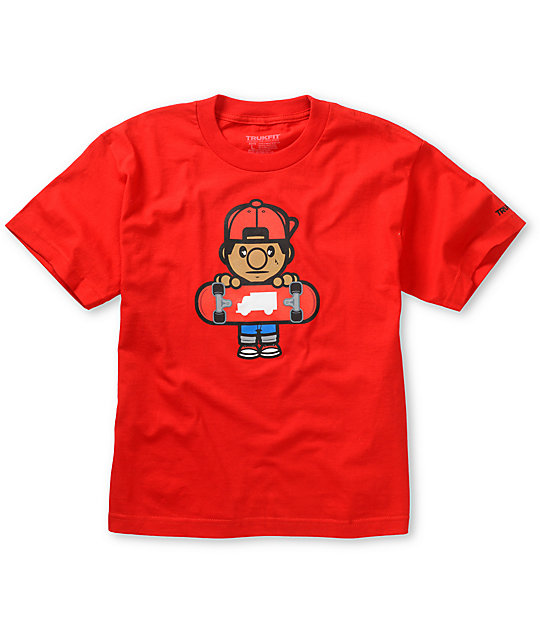Trukfit Boys Lil Tommy Red T-Shirt