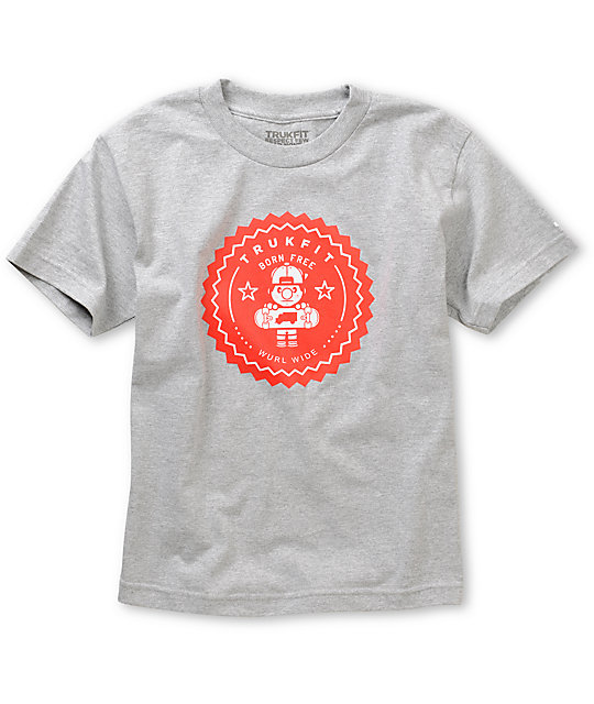 Trukfit Boys Lil Tommy Seal Grey T-Shirt
