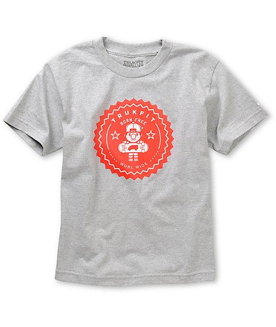 Trukfit Boys Lil Tommy Seal Grey T-Shirt