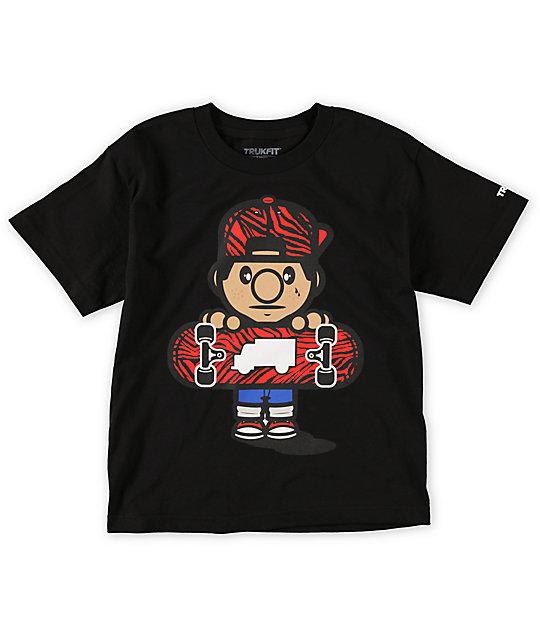 Trukfit Boys Lil Tommy Zebra Black T-Shirt
