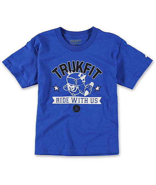 Trukfit Boys Ride With Us Blue T-Shirt