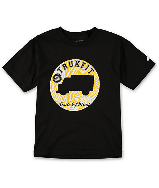 Trukfit Boys Token Black T-Shirt