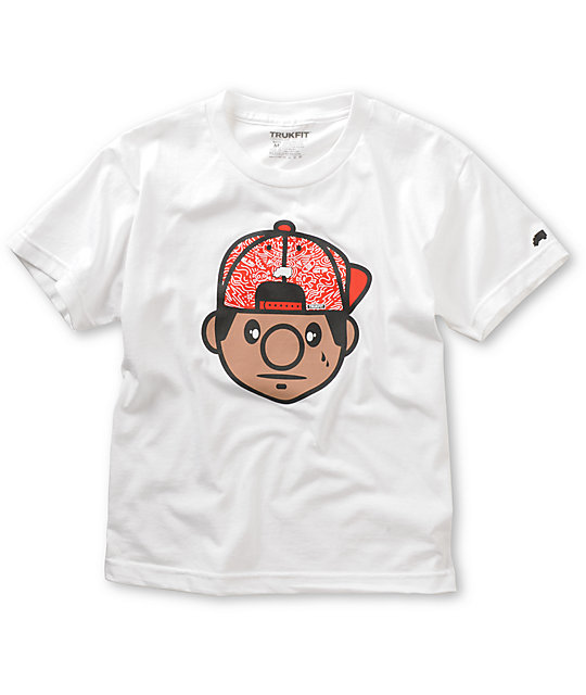 Trukfit Boys Tommy Harring White T-Shirt