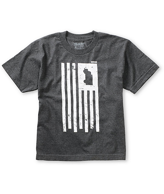 Trukfit Boys Truk America Charcoal T-Shirt