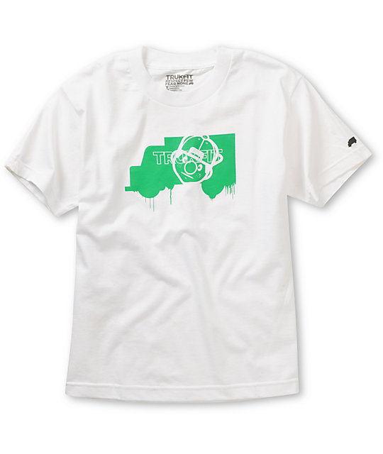 Trukfit Boys Truk Face White T-Shirt