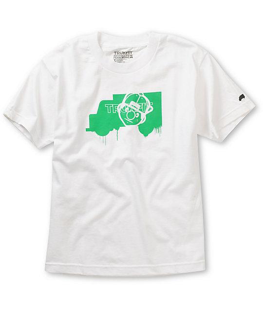 Trukfit Boys Truk Face White T-Shirt