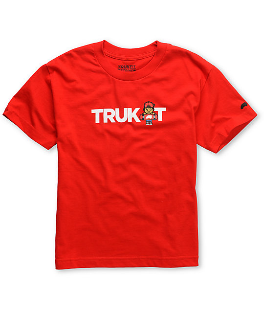 Trukfit Boys Truk It Logo Red T-Shirt
