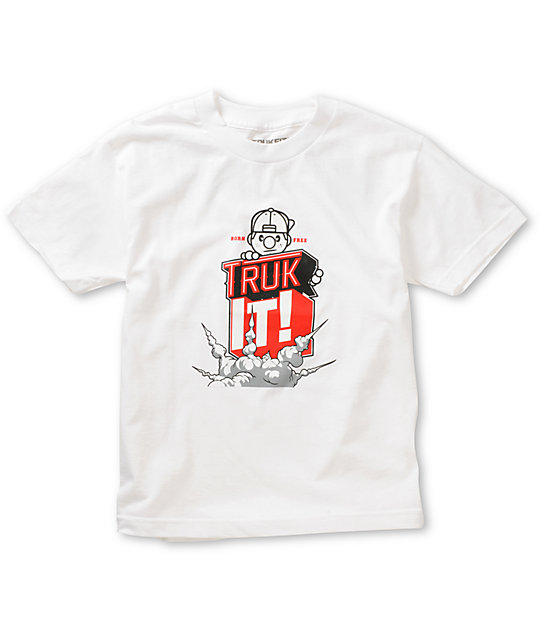 Trukfit Boys Truk It White T-Shirt