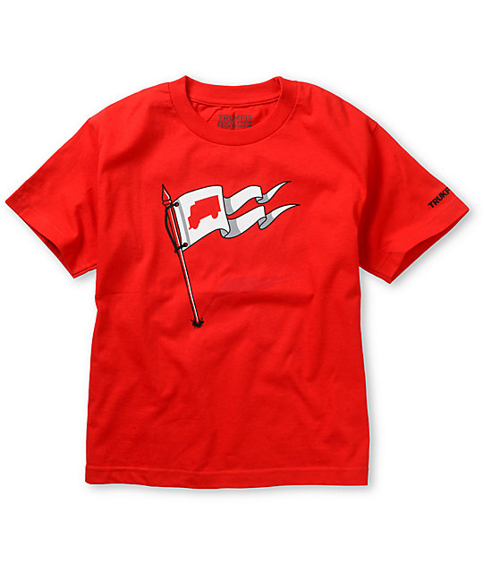 Trukfit Boys We Are Here Red T-Shirt