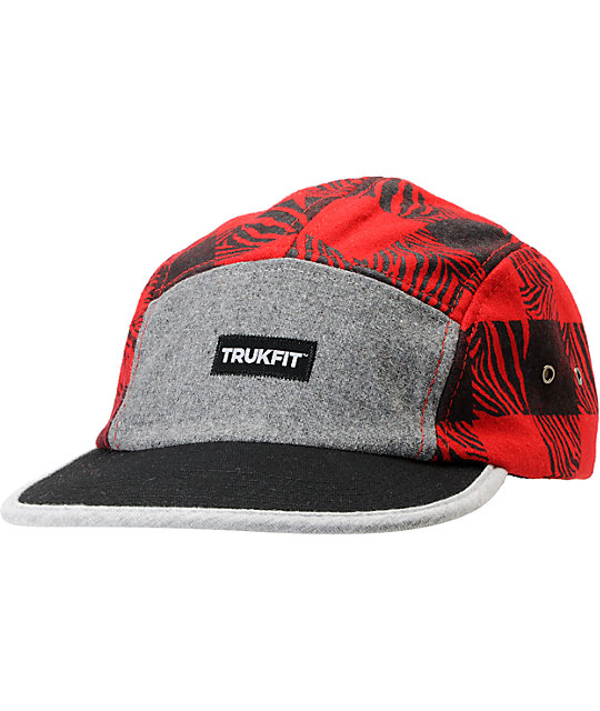 Trukfit Camper Red 5 Panel Hat