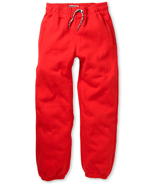 Trukfit Core Basic Red Fleece Sweatpants