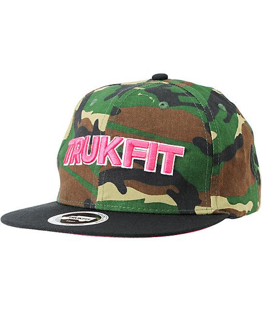 Trukfit Culture Woodland Camo Snapback Hat
