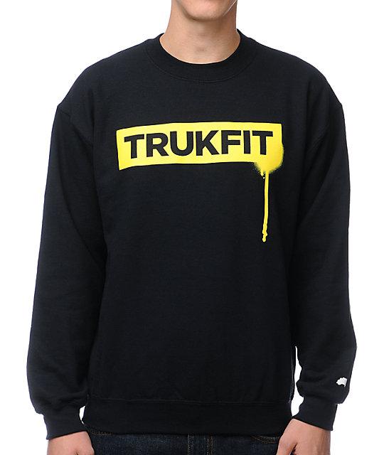 Trukfit Drip Black Crew Neck Sweatshirt