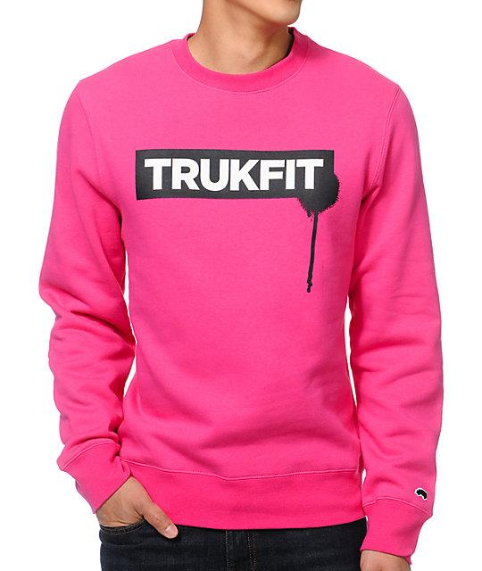 Trukfit Drip Pink Crew Neck Sweatshirt at Zumiez : PDP