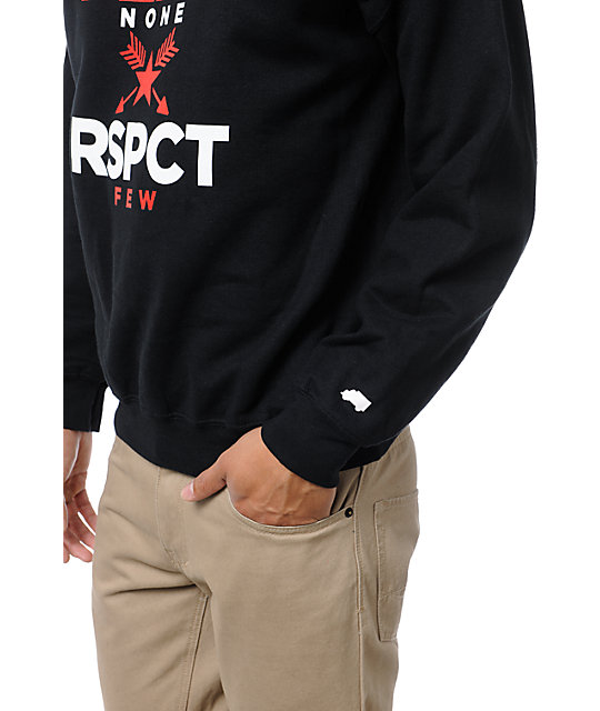 Trukfit Fear None Black Crew Neck Sweatshirt