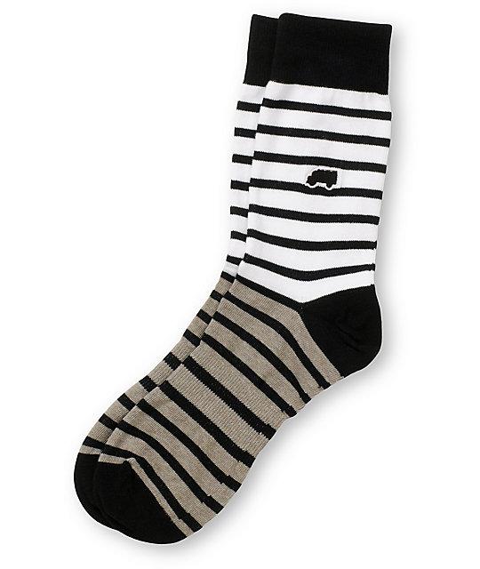 Trukfit Feeder Yarn White & Grey Crew Socks