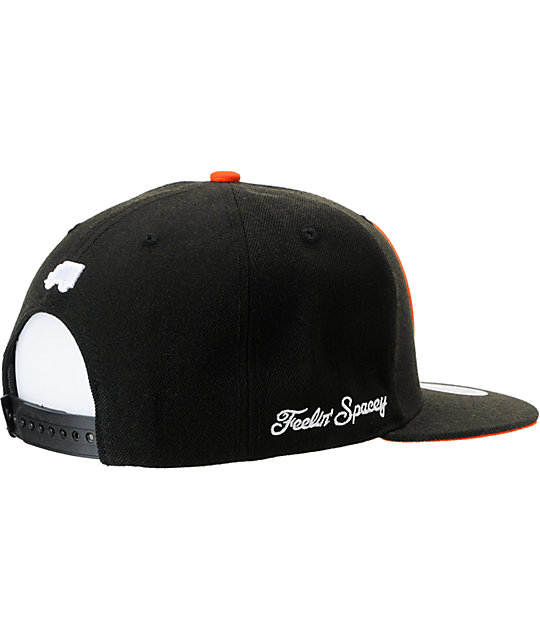 Trukfit Feelin Spacey Black & Orange Snapback Hat