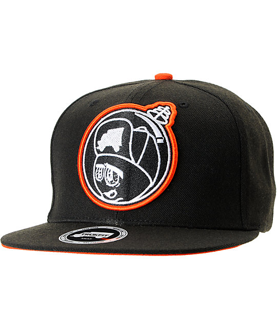 Trukfit Feelin Spacey Black & Orange Snapback Hat
