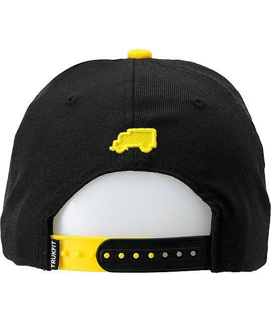Trukfit Feelin Spacey Black   Yellow Snapback Hat  77a9a185ec12