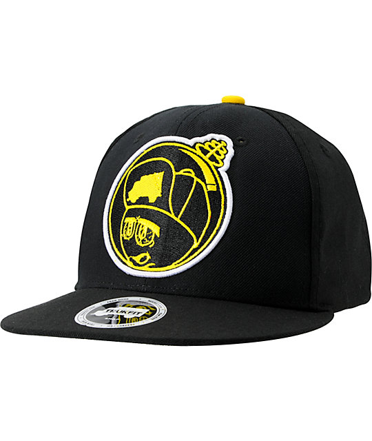 Trukfit Feelin Spacey Black & Yellow Snapback Hat