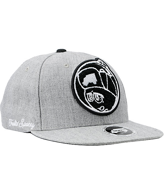 Trukfit Feelin Spacey Chenille Heather Grey Snapback Hat