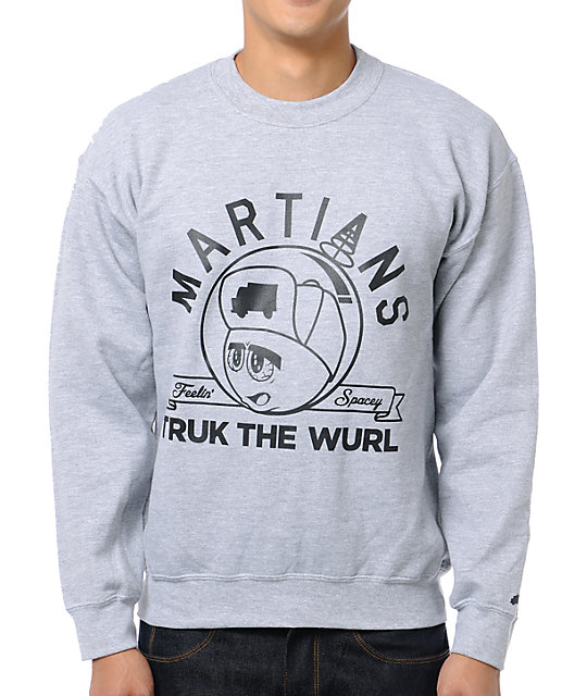 Trukfit Feelin Spacey Grey Crew Neck Sweatshirt
