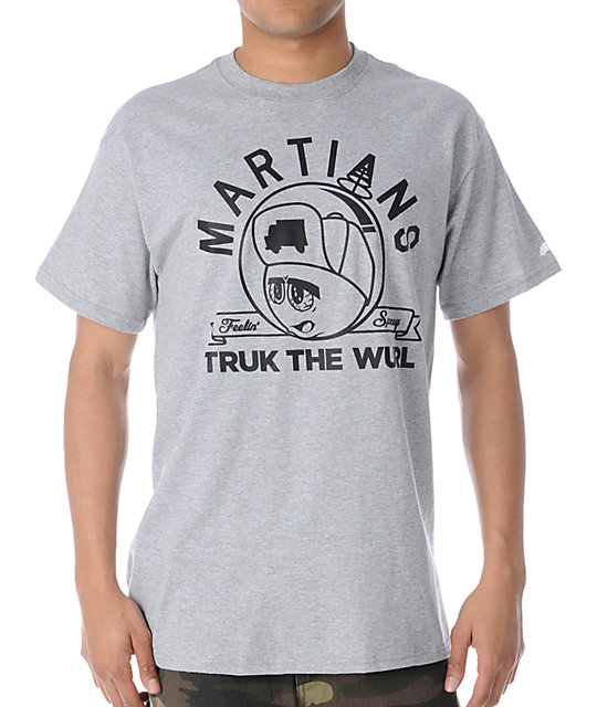 Trukfit Feelin Spacey Martians Grey T-Shirt
