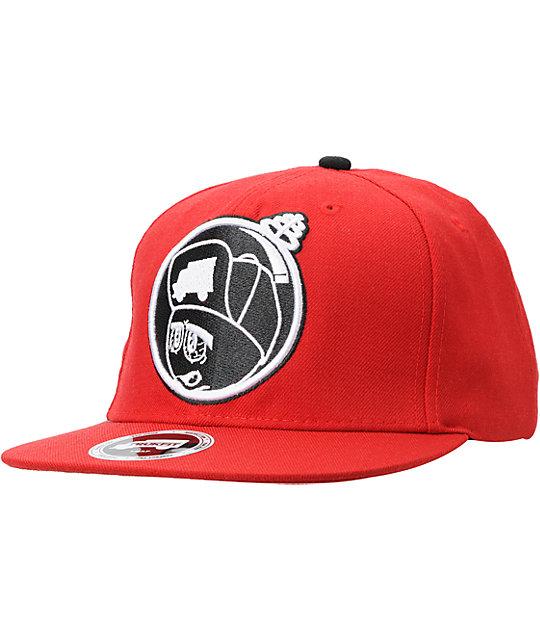 Trukfit Feelin Spacey Red Snapback Hat