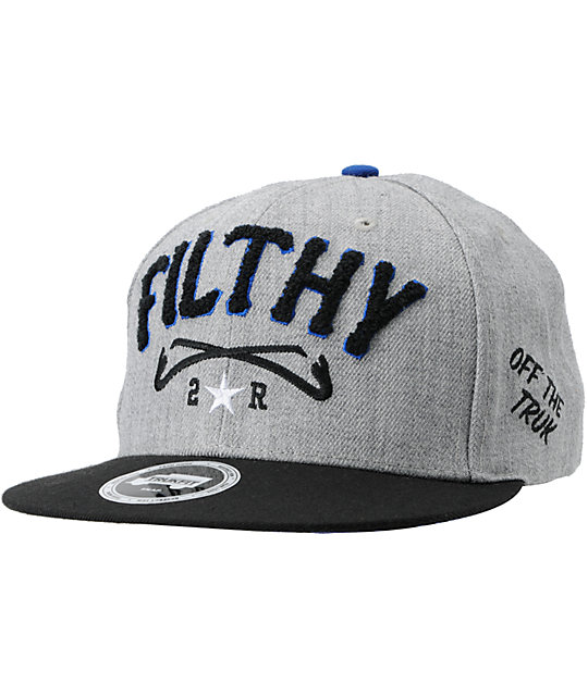 Trukfit Filthy Chenille Heather Grey Snapback Hat