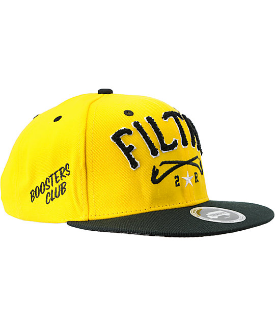 Trukfit Filthy Chenille Yellow Snapback Hat